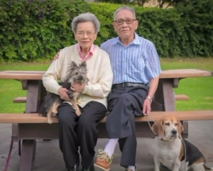 Tuyen Nguyen, right, is shown in a family photo.