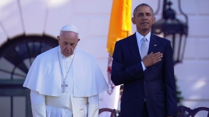 Pope Francis arrived at the White House on Sept. 23, 2015. (Credit: CNN)