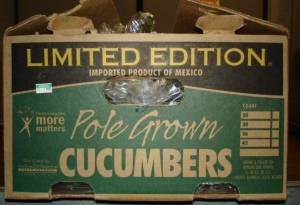 Recalled cucumbers were packed in crates similar to the one in the photo provided by the California Department of Health.