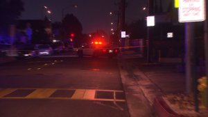 An investigation was underway into an apparent murder-suicide in Rosemead on Sept. 15, 2015. (Credit: KTLA)