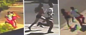 Surveillance images shown two people suspected of killing Marshawn Jackson on Aug. 27, 2015. (Credit: LASD)