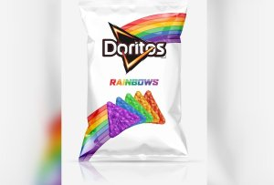The limited-edition Doritos Rainbows chips will feature inspirational quotes on the outside of the bag. (Credit: PepsiCo)
