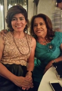 Silvia Salazar, left, in shown in a photo provided by her friend, Dolinda Reyes, right.
