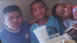 Three young brothers found dead inside a vehicle in South L.A. on Sept. 9, 2015, are shown in a photo posted to a GoFundMe page for the family.
