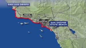 The tsunami advisory extends from San Onofre State Beach in San Clemente to Ragged Point, about 50 miles north of San Luis Obispo, according to the National Tsunami Warning Center. In anticipation of dangerous currents, the Orange County Sheriff's Department announced that all beaches, harbors and marinas would close there as of 4:00 a.m.