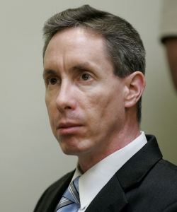 Warren Jeffs watches the proceedings during his trial on September 19, 2007 in St. George, Utah. (Credit: Steve Marcus-Pool/Getty Images)