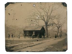 A newly discovered photograph features several of the Lincoln County Regulators, including legendary gunman, Billy the Kid. (Credit: Kagin's)