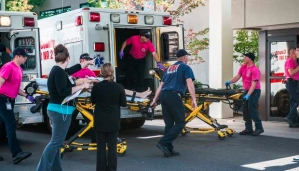 A patient is wheeled into the Emergency Room at Mercy Medical Center. (Credit: NR Today)