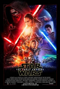 Official poster for the movie Star Wars The Force Awakens. (Credit: Lucas Films)