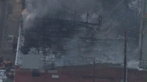 Hours after it broke out, the fire was declared a knockdown, fire officials said shortly before 7:45 a.m.