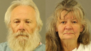 Bruce and Debra Leonard are seen in booking photos released by the New Hartford Police Department.