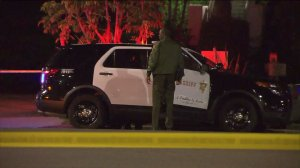 Deputies responded after a man was fatally shot in Marina del Rey on Sunday, Oct. 25, 2015. (Credit: KTLA)