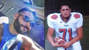 When the shooting broke out, Chris Mintz, 30, a military veteran and a former high school football player in Randleman, North Carolina, reportedly tried to save the lives of others. (Family photos)