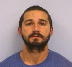 Shia LaBeouf is seen in a booking photo released by police. (Credit: CNN)