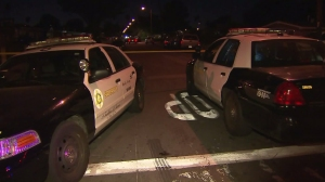 A man was stabbed to death in unincorporated Vincent on Oct. 30, 2015. (Credit: KTLA)
