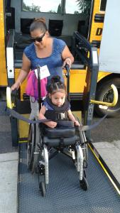 Miracle Perez is seen in her wheelchair in a photo provided to KTLA by her mother.