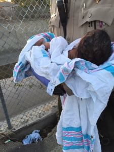 A newborn girl is seen in a photo provided by LASD on Nov. 28, 2015, a day after she was found abandoned in Compton.