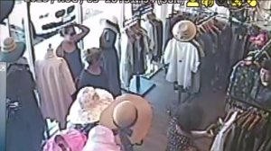 Surveillance video showed two women enter a Buena Park shop before a distraction theft on Aug. 9, 2015.