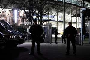 Special forces secure the HDI-Arena after a bomb alert prior the match Germany against the Netherlands at the HDI-Arena on November 17, 2015 in Hanover, Germany. (Credit: Alexander Koerner/Getty Images)