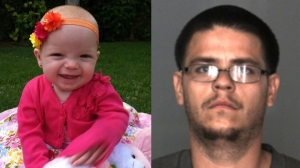 Scarlett, left, and Daniel Ruiz are seen in photos released by the San Bernardino County district attorney's office.