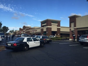 Police were responding to an incident at a Starbuck in Santa Ana on Nov. 24, 2015. (Credit: Chip Yost / KTLA)