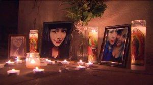 A makeshift memorial in honor of Kassandra Ochoa is seen on Nov. 23, 2015, near the scene were she was killed. (Credit: KTLA)