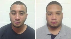Louisiana State Police provided these photos of Norris J. Greenhouse Jr., left, and Derrick W. Stafford, right, on Nov. 7, 2015, after the police officers were charged with second-degree murder in the death of a 6-year-old boy.