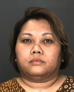Marselyn Sihotang, 36, is seen in a booking photo released by the Rancho Cucamonga Police Department.