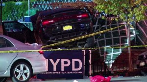 Three people were killed, including a 10-year-old girl, after witnesses say a car plowed into trick-or-treaters on Oct. 31, 2015. (Credit: 12 The Bronx, LLC)