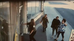 In a surveillance video image, a group of four women approaches a Thai restaurant in Palmdale before a Jan. 24, 2015, theft.
