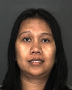 Roselina Sihotang, 38, is seen in a booking photo released by the Rancho Cucamonga Police Department.