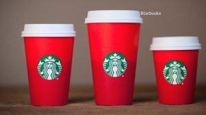This year's holiday season red cups at Starbucks have stirred up come critics. (Credit: Starbucks)