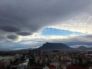 Another image shows the strangely shaped clouds over Cape Town, South Africa on Nov. 8, 2015. (Credit: Abass Petersen via CNN Wire)