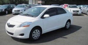 A white 2011 Toyota Yaris is pictured in a photo provided by Katherine Wing's family.
