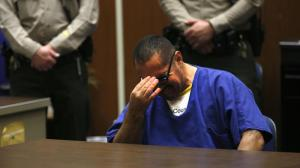 Luis Lorenzo Vargas breaks down in court on Nov. 23, 2015, as he is exonerated for three sexual assaults that he was convicted of and spent 16 years in jail for. (Credit: Francine Orr / Los Angeles Times)