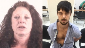 Tonya Couch is seen in a booking photo released by theTarrant County Police Department; Ethan Couch is seen after being arrested in Mexico in December 2015 in a photo released by the Jalisco State Prosecutors Office.