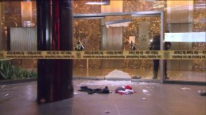Four people were shot, one fatally, at The Standard hotel in downtown Los Angeles on Dec. 13, 2015. (Credit: KTLA)
