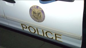A Riverside police car is seen in a filephoto. (Credit: KTLA)