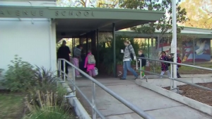 Students returned to school after a threat prompted a districtwide closure of LAUSD campuses on Dec. 16, 2015. (Credit: KTLA)