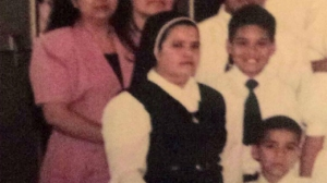 A younger sister Raquel Diaz is shown in a photo provided to KTLA by a parishioner.