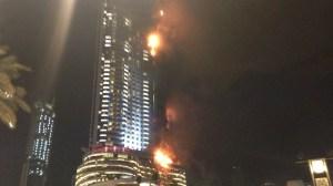 A fire broke at a hotel in downtown Dubai on Dec. 31, 2015. (Credit: CNN)