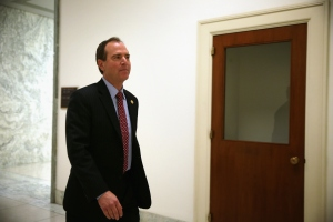 U.S. Rep. Adam Schiff (D-CA) on his way back to his Capitol Hill office Jan. 28, 2015, when he introduced a legislation to authorize military actions against ISIS. (Credit: Alex Wong/Getty Images)
