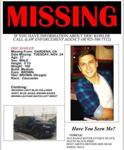 A flier of the missing man has circulated on social media.