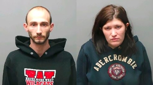 Parents Kathleen Peacock and Lucas Barnes had been manufacturing methamphetamine in the home where their toddler son died, police said. (Credit: St. Charles Police)