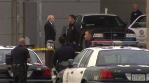 Police responded to Harbor-UCLA Medical Center after an officer-involved shooting on Dec. 12, 2015. (Credit: KTLA)