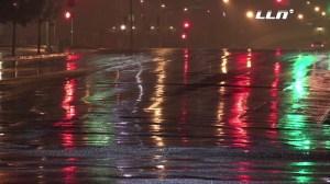 Rain falls in Riverside on Dec. 22, 2015. (Credit: LNN)