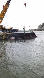 Four bodies were found inside a wooden boat off Aomori on Dec. 6, 2015. (Credit: Aomori Coast Guard Office via CNN Wire)