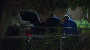 San Bernardino police were investigating the death of 5-year-old child at a home on Dec. 8, 2015. (Credit: KTLA)