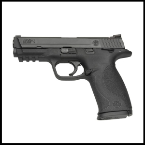 A Smith & Wesson M&P9 is shown in a product photo from the firearm maker. The company sells a full line of M&P pistols.