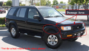 Santa Ana police released this photo showing a vehicle similar to the one that struck two pedestrians on Dec. 8, 2015.